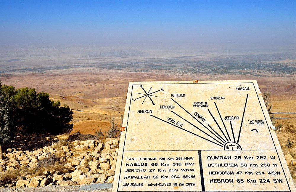 View of Mose's Promised Land from Mt Nebo Madaba, Jordan.