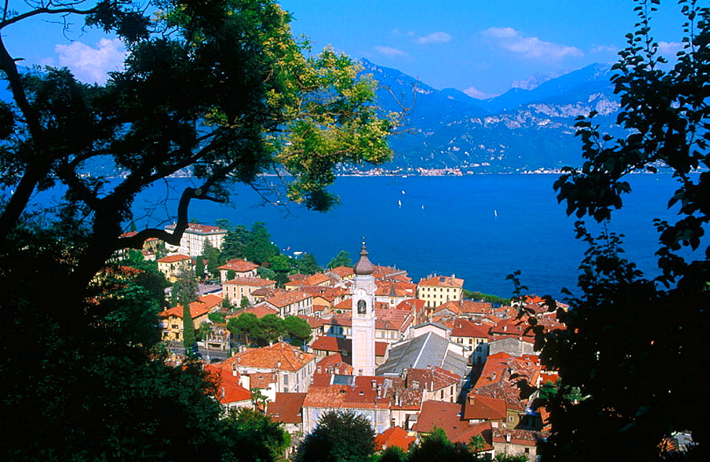 View of Menaggio with Lake Como at the background, Lombardy, Italy
