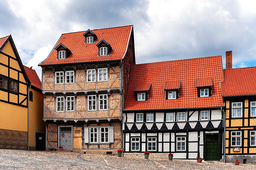 Home of the German writer Nicholas Dietrich Giseke From 1754 to 1760 he lived in the House Schlossberg 9 Giseke was a close friend of the German poet Friedrich Gottlieb Klopstock, Quedlinburg, Saxony-Anhalt, Germany, Europe