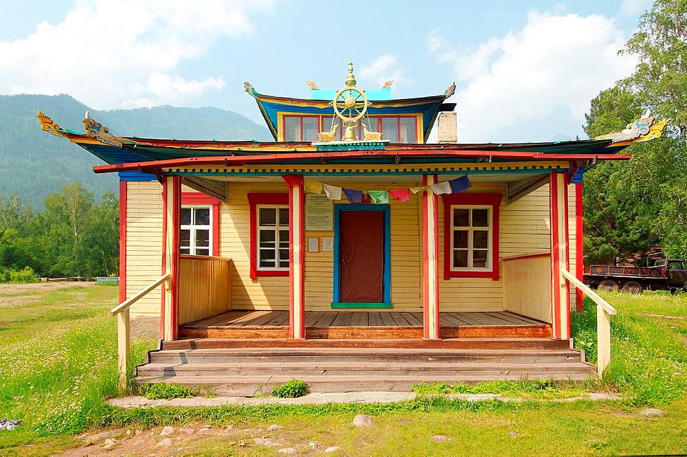 Datsan, Buddhist university monasteries, Arshan, Tunkinsky District, Republic of Buryatia, Siberia, Russian Federation
