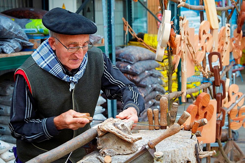 wood craftsman, Hondarribia, Gipuzkoa, Basque country, Spain.