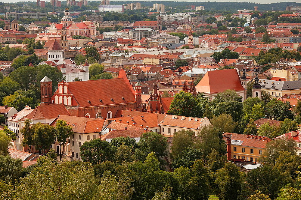 Vilnius  A view of the Old Town from the Hill of the Three Crosses