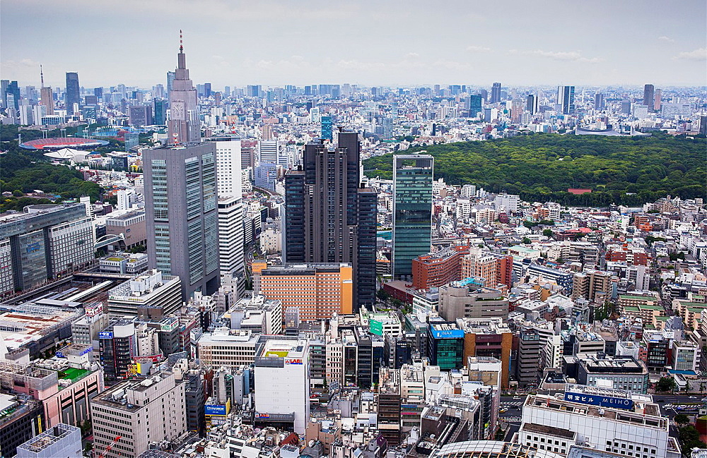views from Metropolitan government of tokyo building,Shinjuku,Tokyo city, Japan, Asia