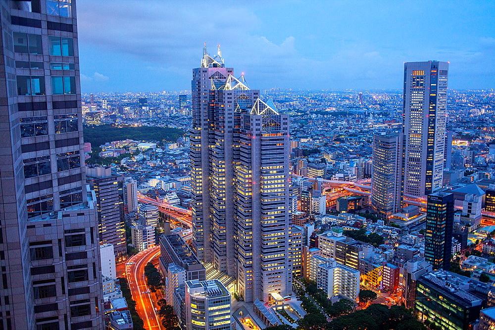 Skyscrapers in Nishi Shinjuku Shinjuku  Tokyo city, Japan, Asia