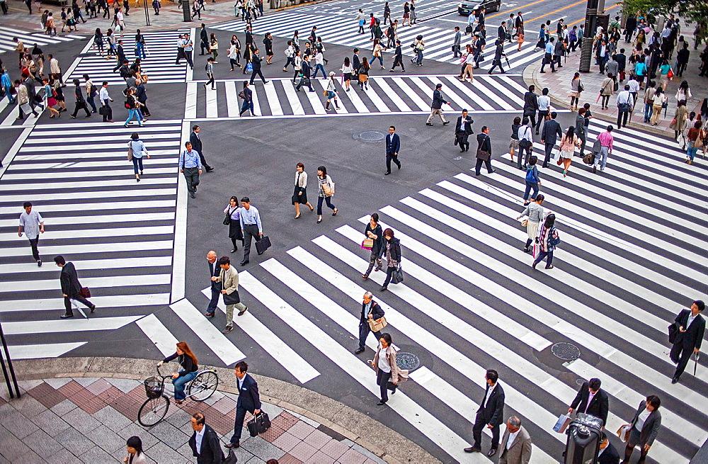 Ginza  Harumi St at Nishi Ginza St Tokyo city, Japan, Asia