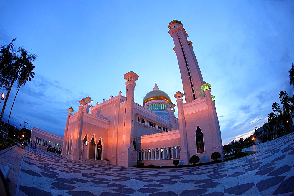 Mssjid Sultan Omar Ali Saifuddin Mosque, Bandar Seri Begawan, Brunei, borneo, asia
