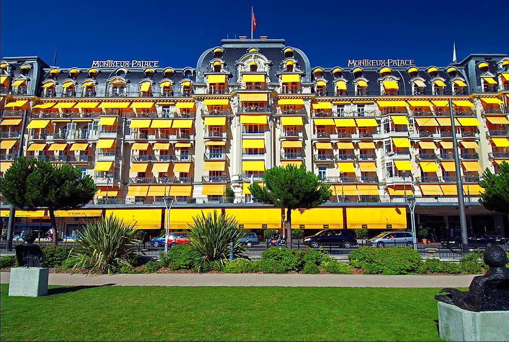 luxury Montreux Palace hotel, Montreux, canton Vaud, Switzerland, Swiss Riviera.