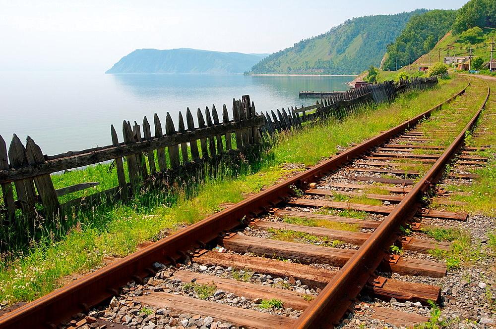 Circum-Baikal Railway, Lake Baikal, settlement Baikal, Irkutsk region, Siberia, Russian Federation