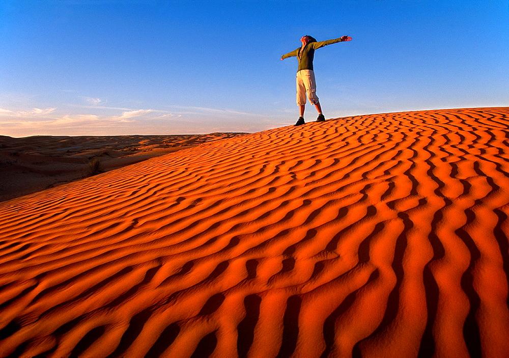 Dunes in Ksar Ghilane Southern Tunisia.