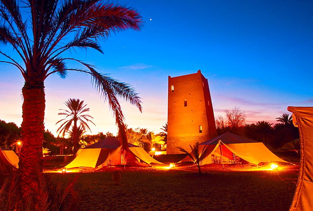 Pansea camp Ksar Ghilane Sahara Tunisia.