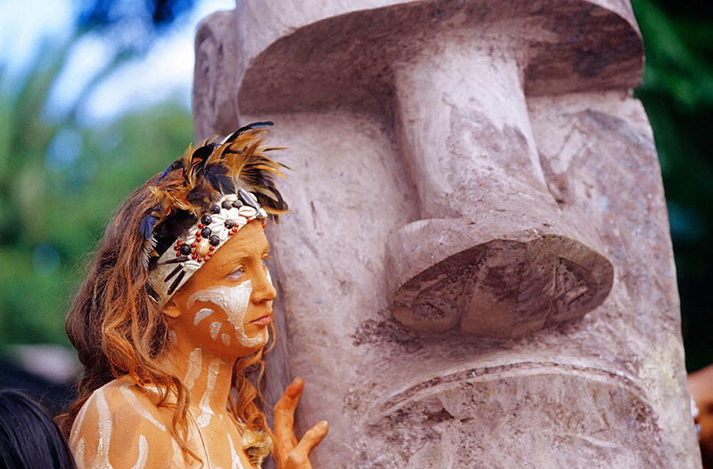 Carnaval, Tapati Rapa Nui festival, Islander, Easter Island, Chile.