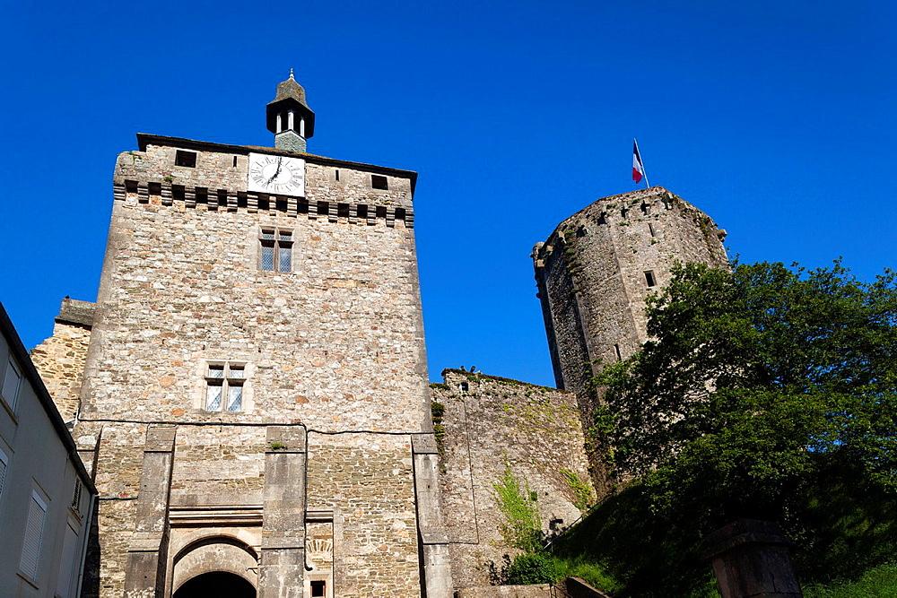 France, Normandy Region, Manche Department, Bricquebec, 14th century castle