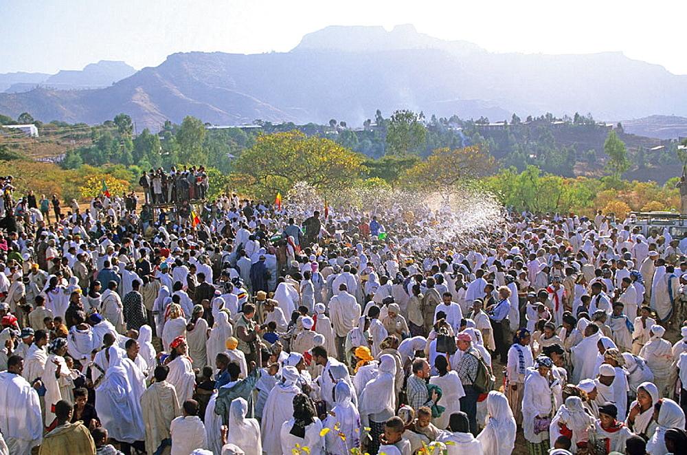 Timkat, Epiphany holiday, Lalibela, Ethiopia. - 817-42497