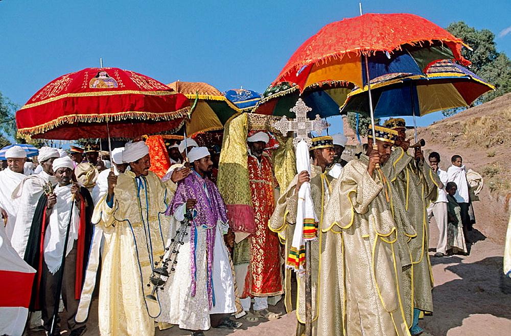Timkat, Epiphany holiday, Lalibela, Ethiopia. - 817-42498