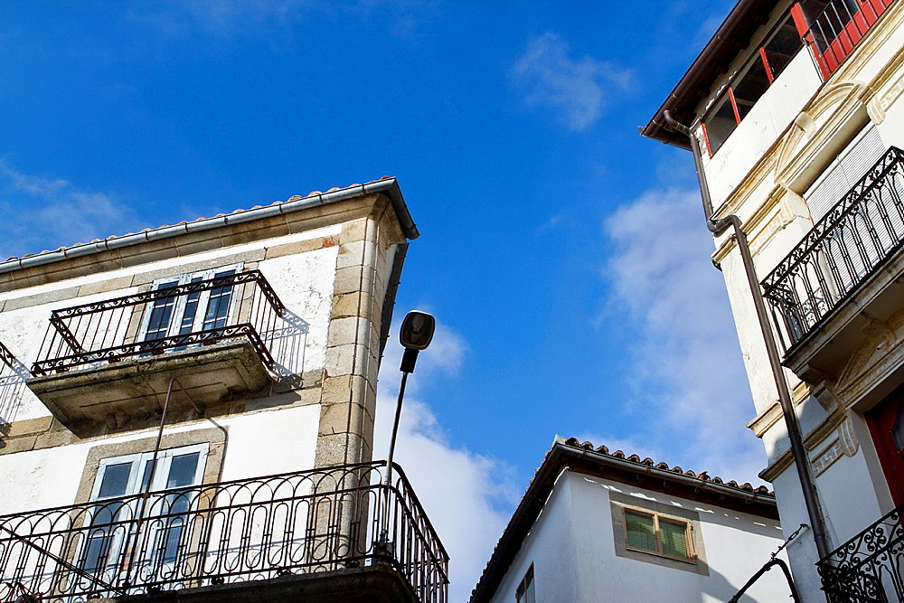 Traditional architecture of jewish quarter Hervas, village declarated Historical-Artistic Site Caceres province Spain