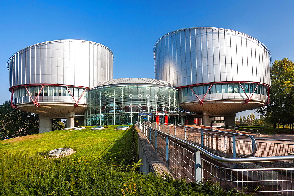 Building of the European Court of Human Rights, Strasbourg, Alsace, France, Europe