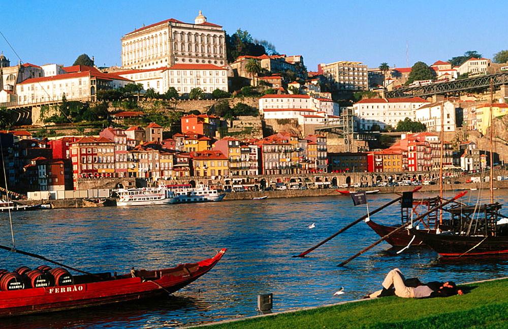Porto and Douro River from Vila Nova de Gaia, Portugal