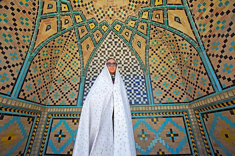 Woman at Imamzadeh Hossein Mausoleum, Qazvin, Iran