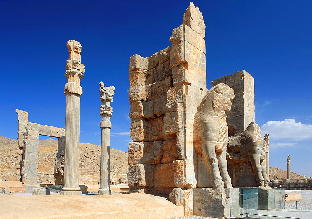 The Xerxes Gate, aka Gate of All Nations, Persepolis, Iran