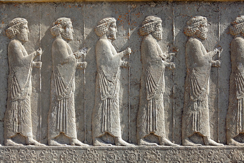 Relief of warriors, Iran, Persepolis, Iran