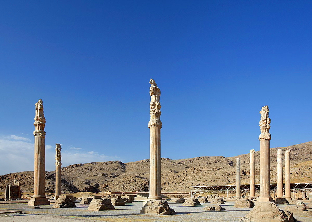 Remains of the Great Palace of Xerxes, Persepolis, Iran