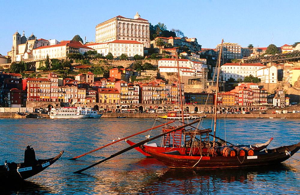 Porto and Douro River form Vila Nova de Gaia, Portugal