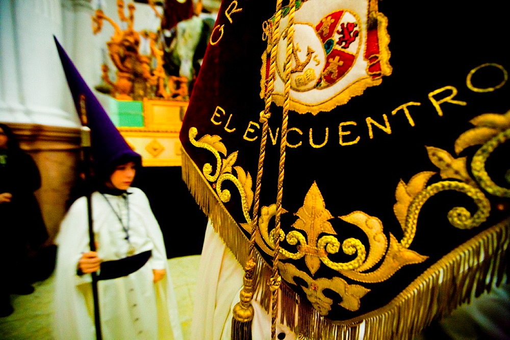 Holy Week in Ceuta Spain, Africa Procession of the Holy Encounter Santo Encuentro with the Legionaries of the Spanish army Easter - 817-425498