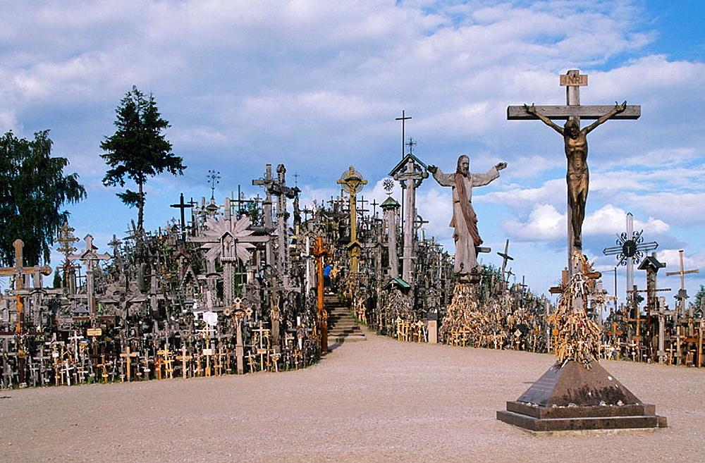 Hill of Crosses, Jurgaicai, Siauliau, Lithuania.
