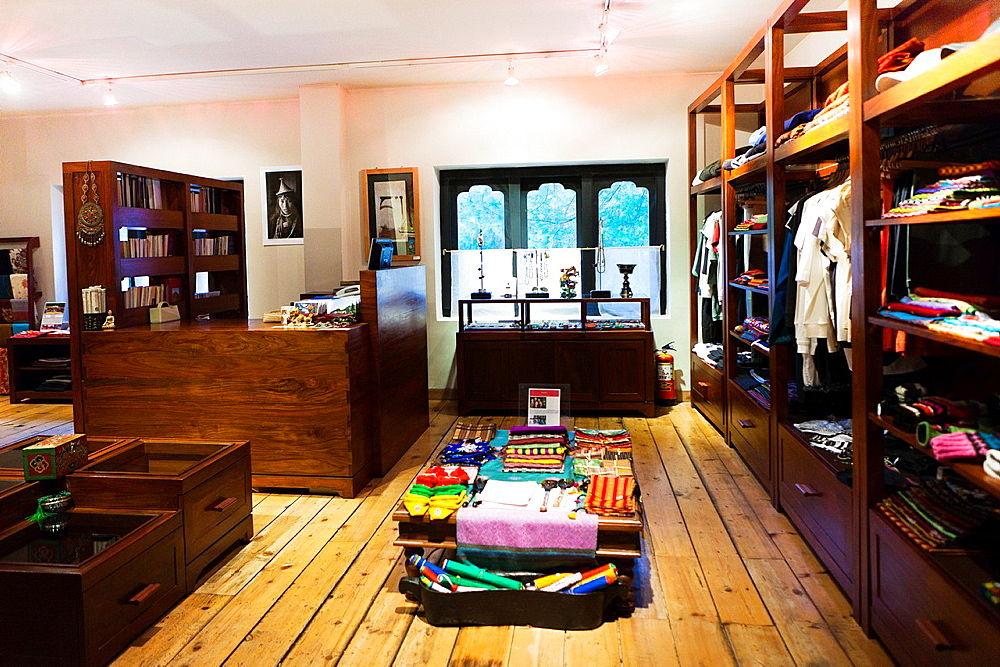 Boutique of UMA Paro Hotel, Paro, Bhutan, Asia.
