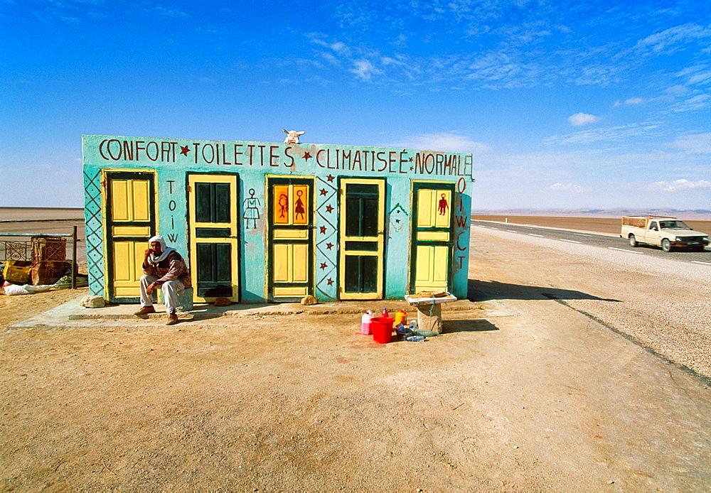 Confort toilet in Chott El Jerid Southern Tunisia.