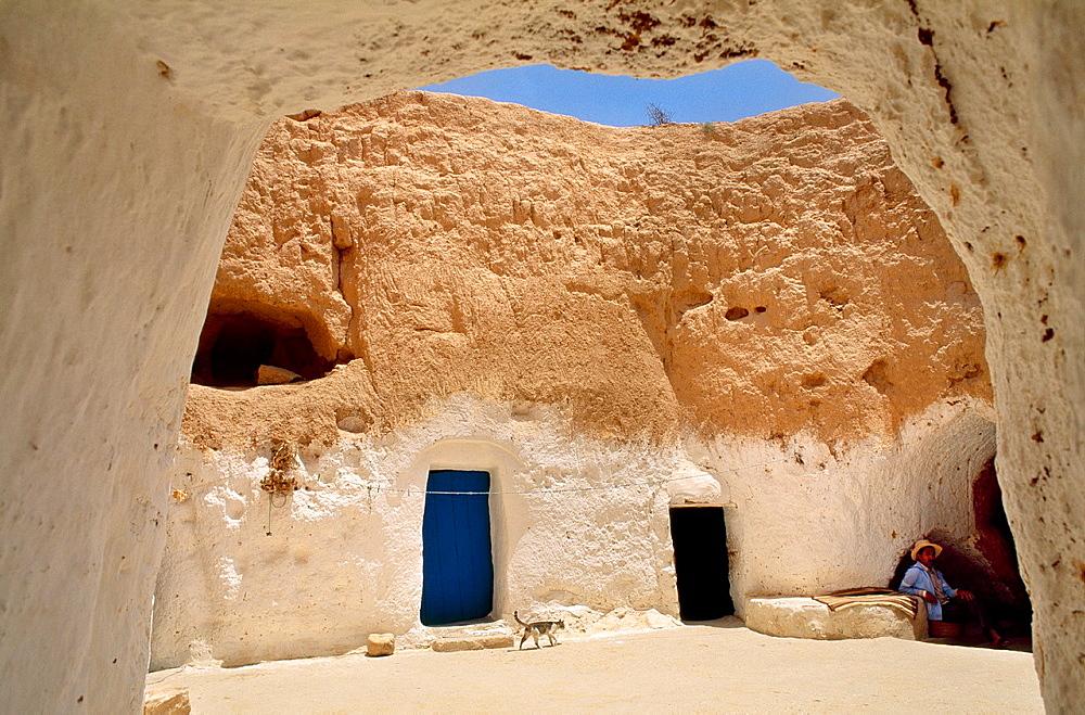 Underground houses Matmata Southern Tunisia.
