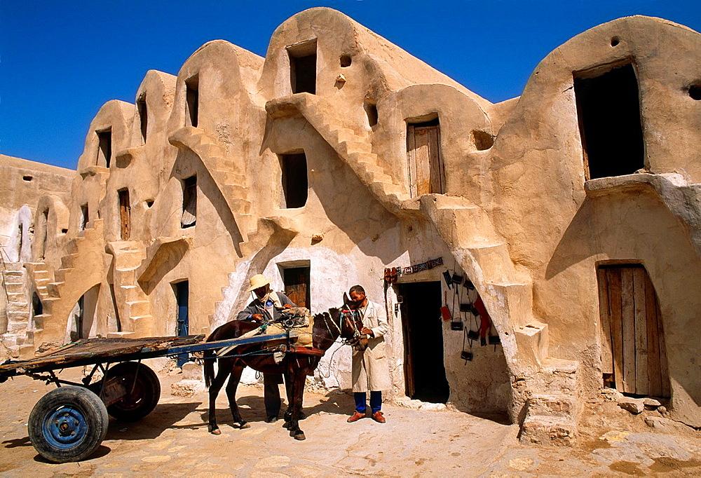 Ksar Gorfha Berber buildings Medenine Southern Tunisia.