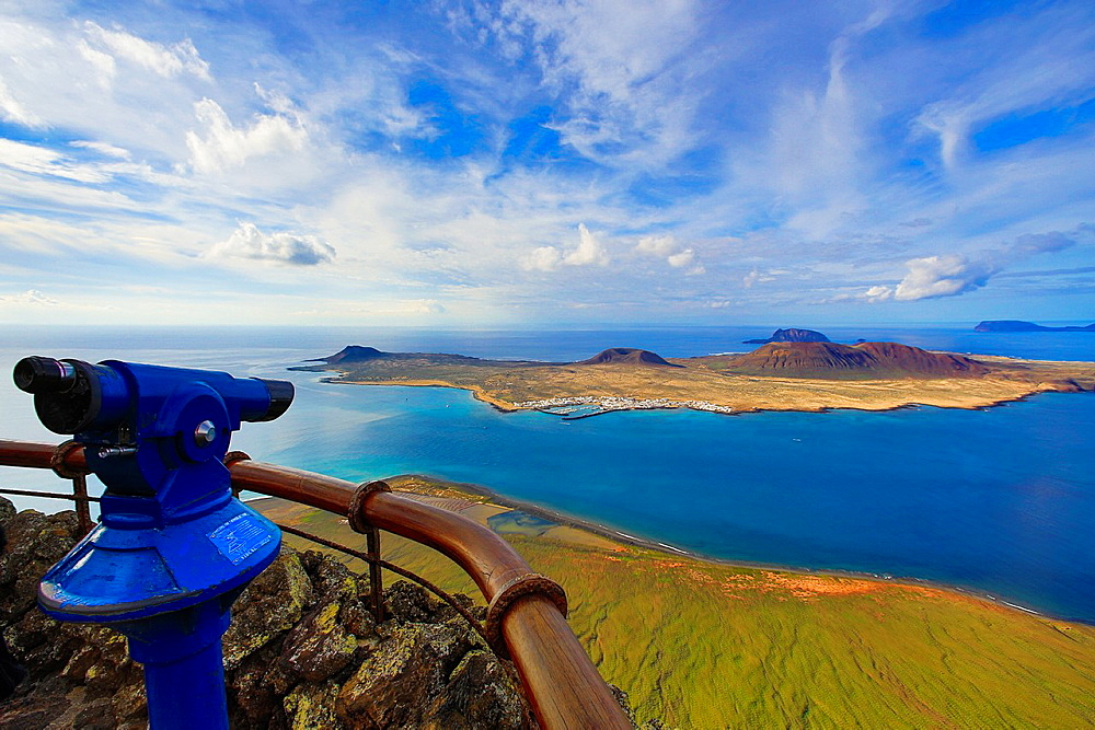 Spain, Canary Islands, Lanzarote Island, Mirador del Rio, Isla Graciosa, Chinijo Natural Park