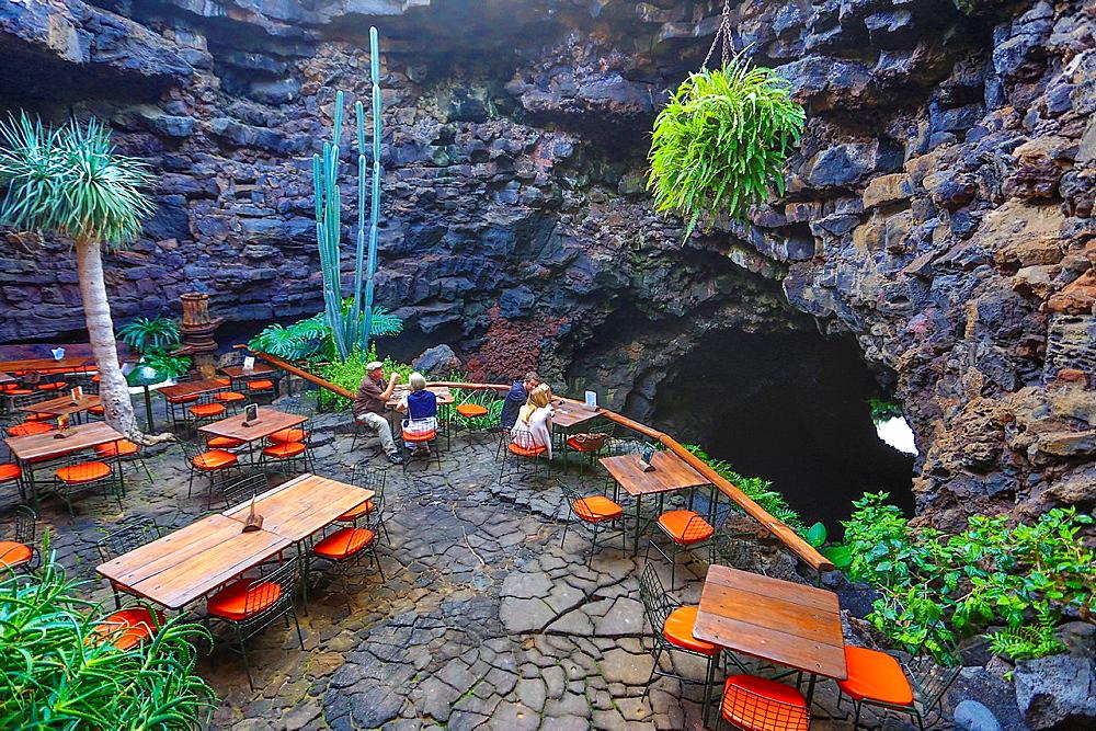 Spain, Canary Islands, Lanzarote Island, Jameos del Agua, Cave entrance