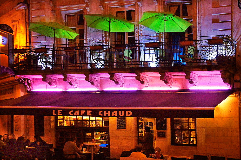 France- Poitou Charente- Charente- Night life at Angouleme.