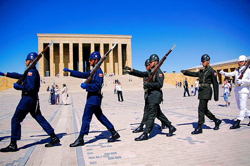 Turkey- Ankara- the 'Anitkabir' Ataturk Mausoleum in the Maltepe area, at Ankara.