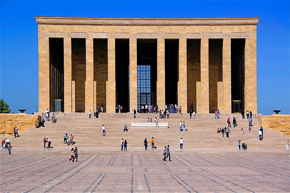 Turkey, Ankara, the 'Anitkabir' Ataturk Mausoleum in the Maltepe area, at Ankara.