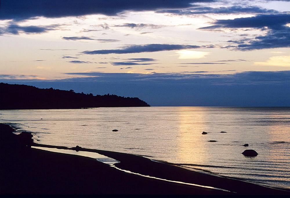 Beach, Gulf of Finland, Baltic coast, Toila, Estonia. - 817-42660