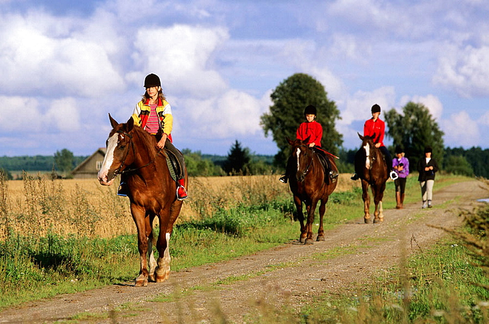 Horse riding, Kuremae, Estonia.