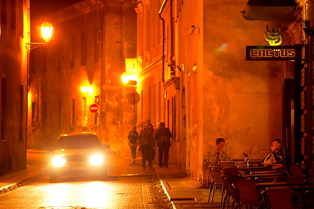 Vilnius The Old Town by night