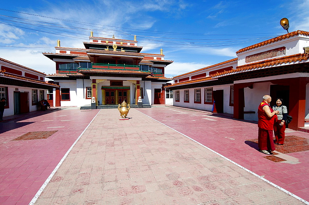 Bakula Rinpoche Khiid Buddhist monastery Founded in 1999, is dedicated to training new Buddhist monks Ulan Bator, Mongolia