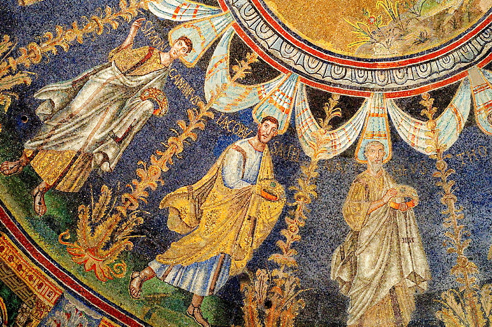Italy, Emilia Romagna, Ravenna, Baptistery, Neon, Battistero Neoniano, Orthodox Baptistry, Mosaic