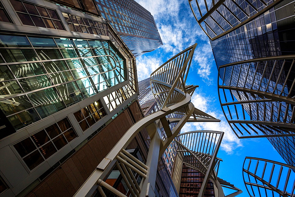 Modern architecture and skyscrapers in downtown Calgary, Alberta, Canada
