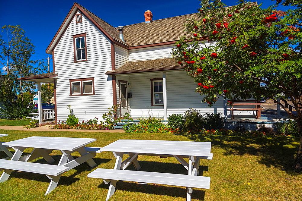 Historic Michener House in Lacombe, Alberta, Canada
