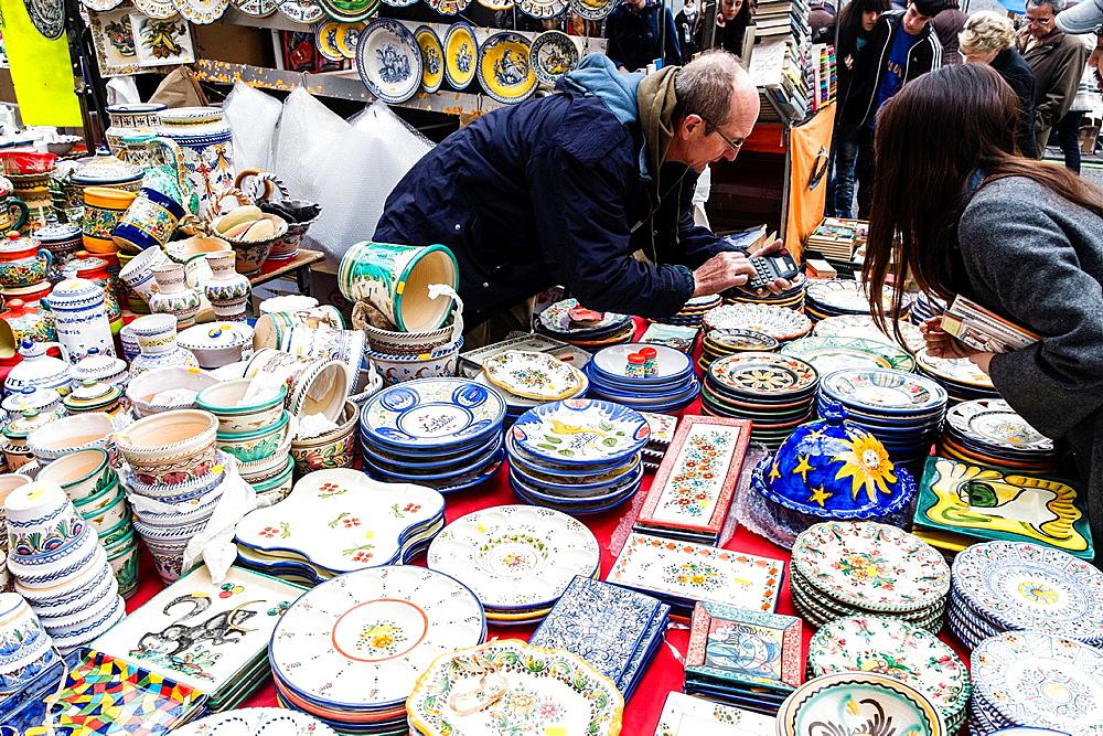 Market El Rastro in Madrid, Spain, Europe