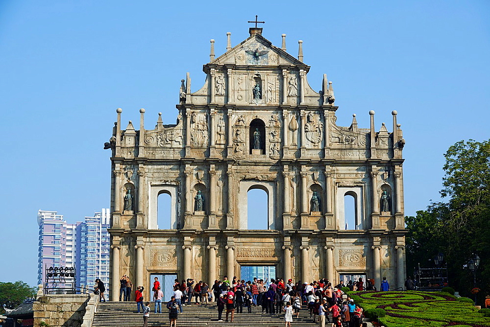 China, Macau, Ruins of St Pauls Church, Sao Paulo Church