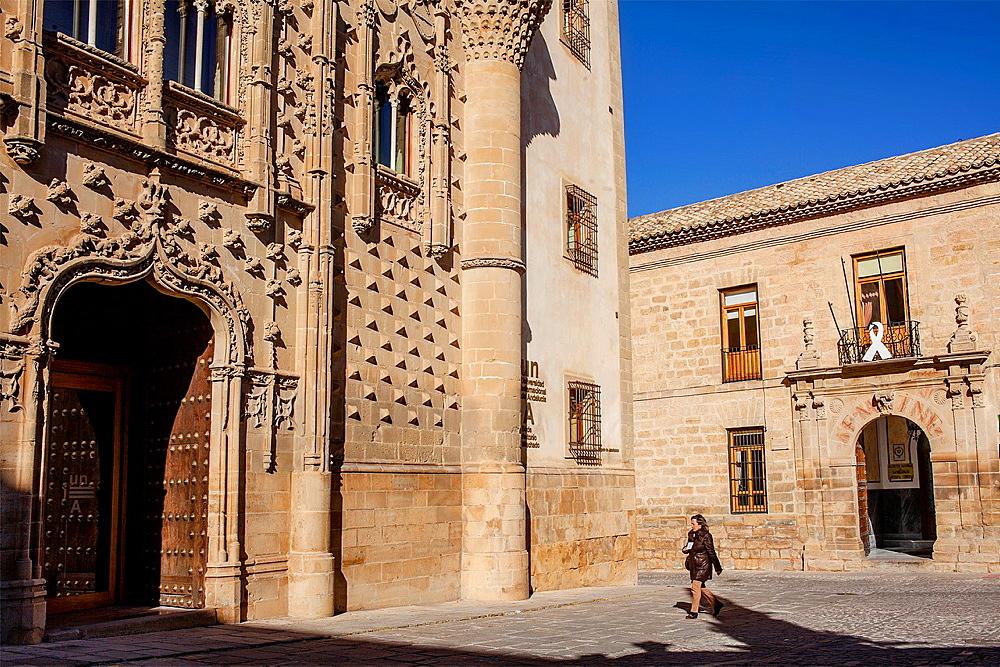 Palacio de Jabalquinto and old university 16th century, Baeza Jaen province, Andalusia, Spain