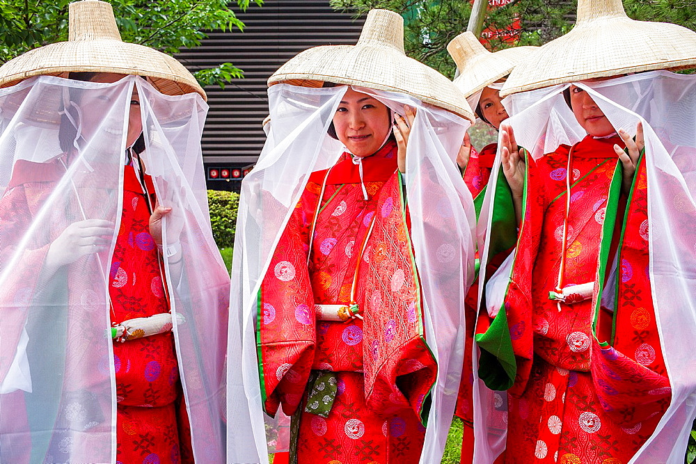 Women of Sanno Matsuri parade The parade begins and ends at HieJinja shrine, Nagata-cho Tokyo city, Japan, Asia