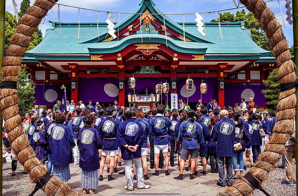 Reisai Hohei ceremony during Sanno Matsuri, in HieJinja shrine, Nagata-cho Tokyo city, Japan, Asia