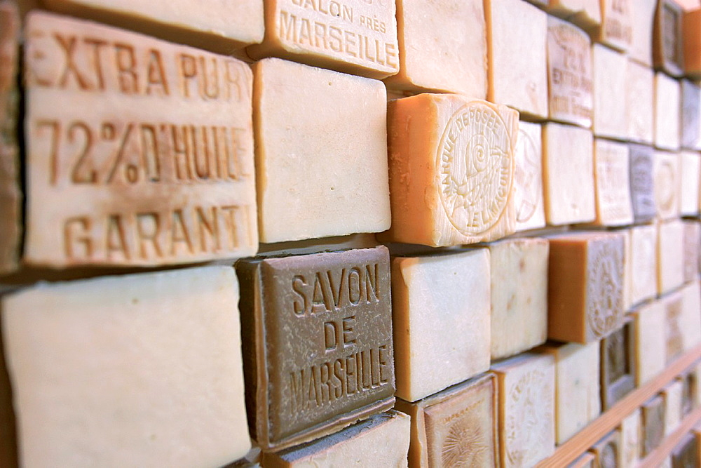 Traditional soap factory, Salon de Provence, Bouches du Rhone, 13, PACA, France.